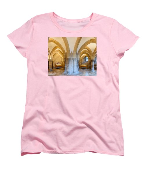 Wells Cathedral Undercroft Women's T-Shirt (Standard Cut) by Colin Rayner