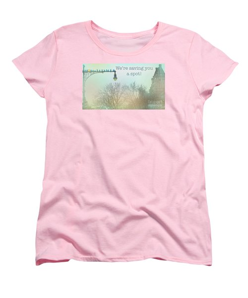 Women's T-Shirt (Standard Cut) featuring the photograph We're Saving You A Spot by Sandy Moulder
