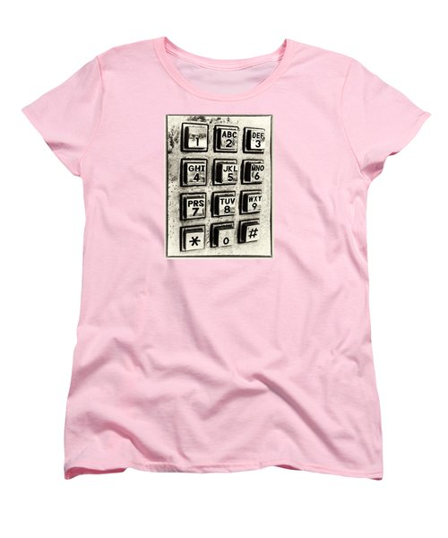 Women's T-Shirt (Standard Cut) featuring the photograph What's Your Number? by Caitlyn  Grasso