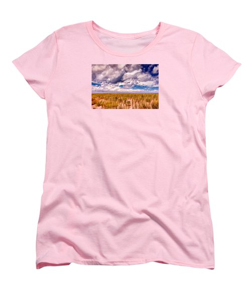 Women's T-Shirt (Standard Cut) featuring the photograph Where Land Meets Sky by Gary Slawsky