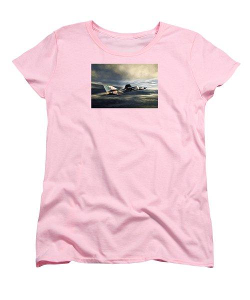 Whispering Death F-111 Women's T-Shirt (Standard Cut) by Peter Chilelli