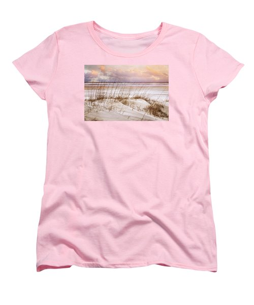 Women's T-Shirt (Standard Cut) featuring the photograph Whispers In The Dunes by Debra and Dave Vanderlaan