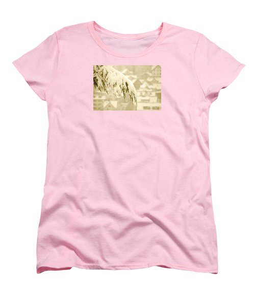 Women's T-Shirt (Standard Cut) featuring the photograph White Christmas - Winter In Switzerland by Susanne Van Hulst