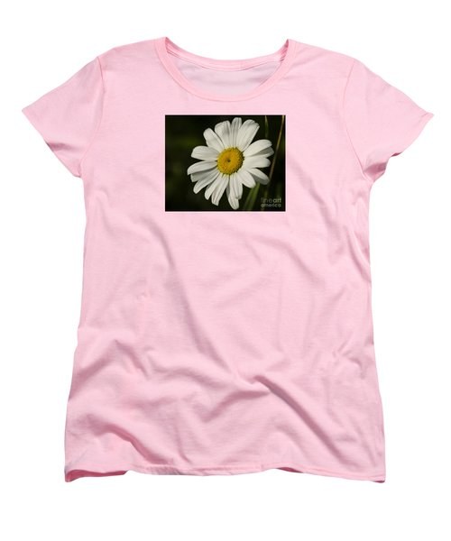 White Daisy Flower Women's T-Shirt (Standard Cut) by JT Lewis