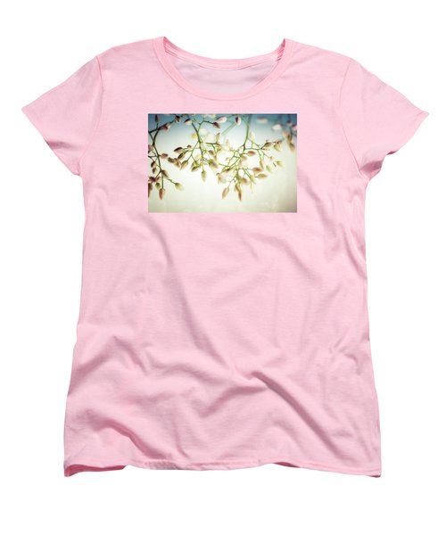 White Flowers Women's T-Shirt (Standard Cut) by Bobby Villapando