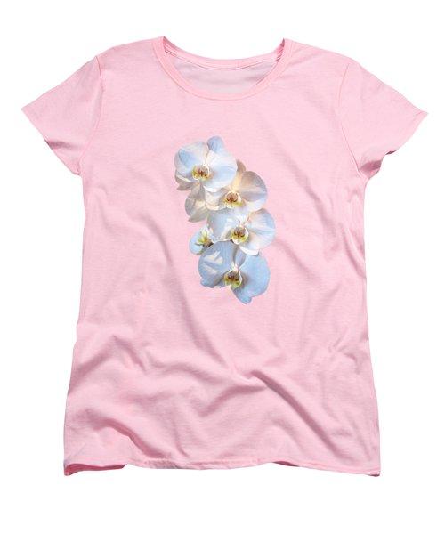White Orchid Cutout Women's T-Shirt (Standard Cut)