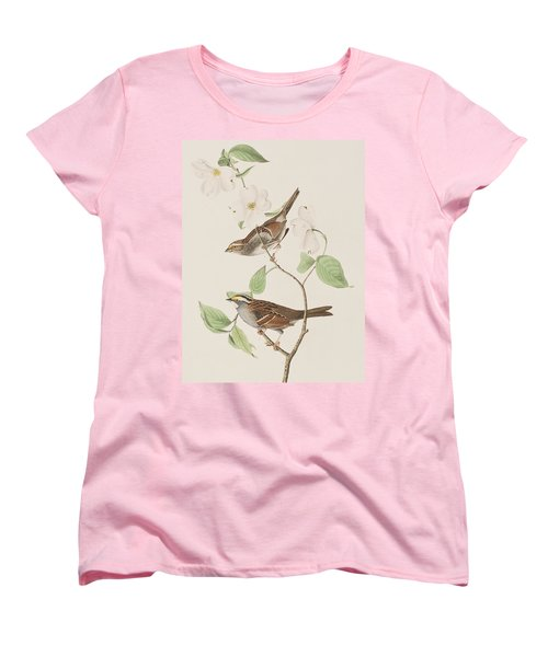 White Throated Sparrow Women's T-Shirt (Standard Cut) by John James Audubon