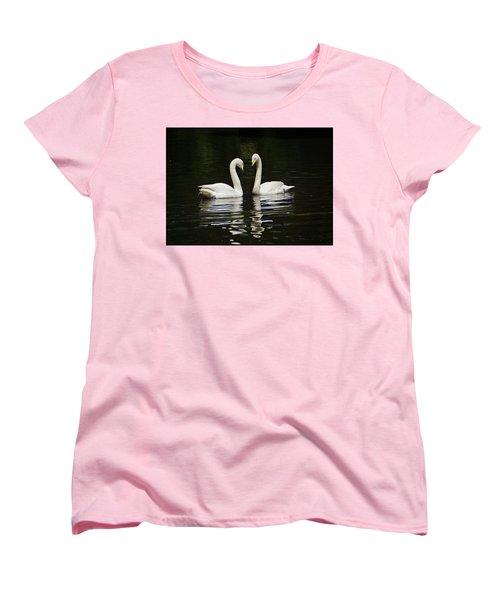 Women's T-Shirt (Standard Cut) featuring the photograph Whooper Swans by Sandy Keeton