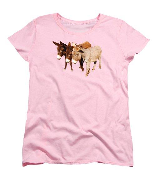 Wild Burro Buddies Women's T-Shirt (Standard Cut) by Sandra O'Toole