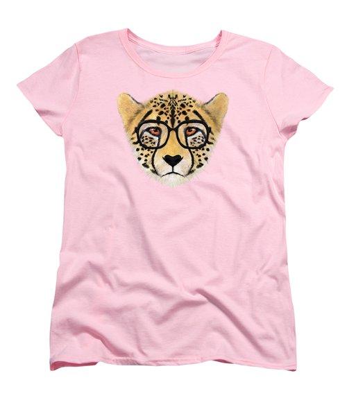 Wild Cheetah With Glasses  Women's T-Shirt (Standard Cut) by David Ardil