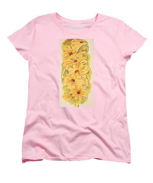 Wild Flower Abstract Women's T-Shirt (Standard Cut) by Theresa Marie Johnson