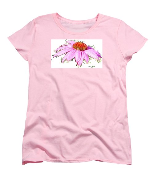 Women's T-Shirt (Standard Cut) featuring the photograph  Wild Flower Three by Heidi Smith