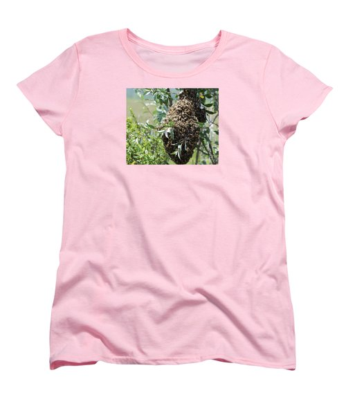 Wild Honey Bees Women's T-Shirt (Standard Cut) by Randy Bodkins