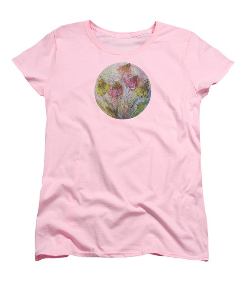 Women's T-Shirt (Standard Cut) featuring the painting Wildflowers 2 by Mary Wolf