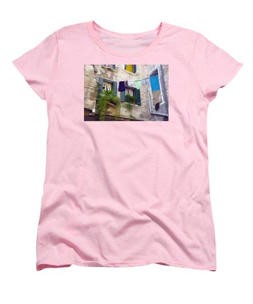 Windows Of Venice Women's T-Shirt (Standard Cut) by Jeff Kolker