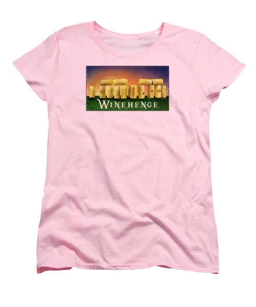 Women's T-Shirt (Standard Cut) featuring the painting Winehenge by Will Bullas