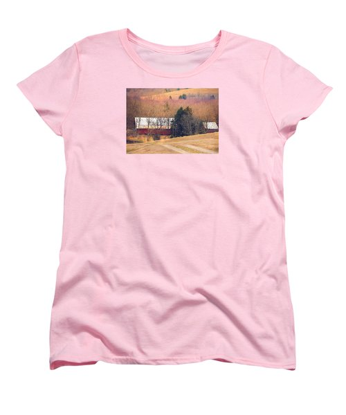 Women's T-Shirt (Standard Cut) featuring the photograph Winter Day At The Farm by Debbie Karnes