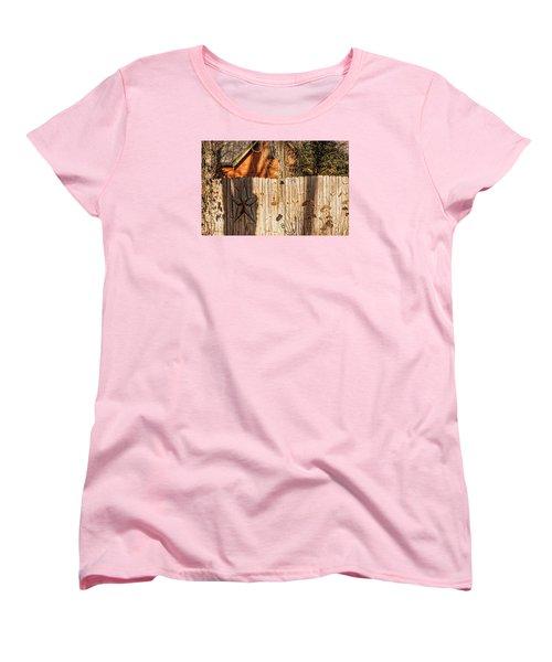 Women's T-Shirt (Standard Cut) featuring the photograph Winter Fence by Trey Foerster