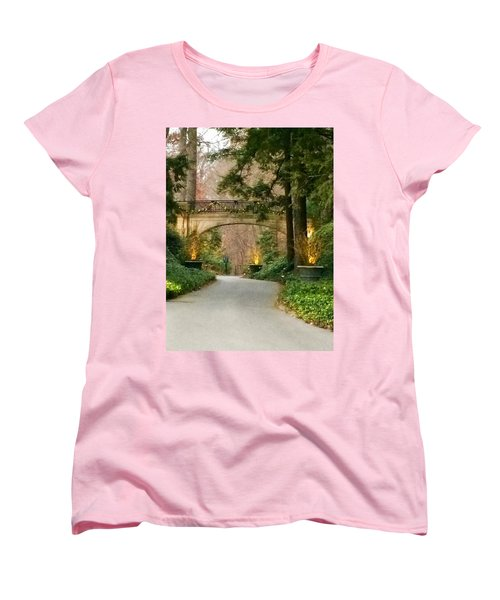 Winter In The Garden Women's T-Shirt (Standard Cut) by Robin Regan