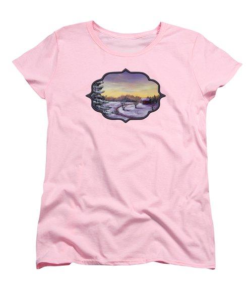 Winter In Vermont Women's T-Shirt (Standard Cut) by Anastasiya Malakhova