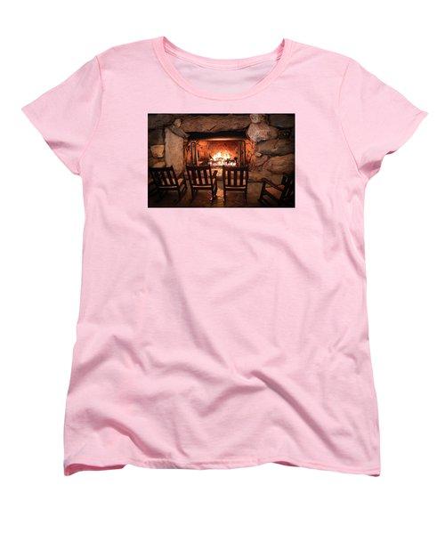 Women's T-Shirt (Standard Cut) featuring the photograph Winter Warmth by Karen Wiles
