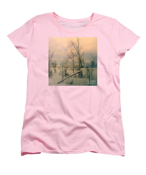 Women's T-Shirt (Standard Cut) featuring the photograph Winter's Face by Elfriede Fulda