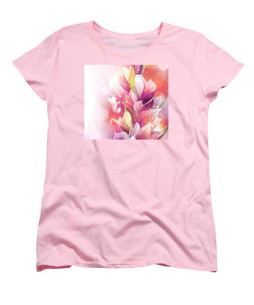 Woman And Flowers Women's T-Shirt (Standard Cut)