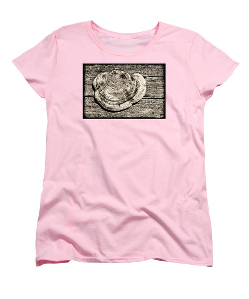 Women's T-Shirt (Standard Cut) featuring the photograph Wood Decay Fungi, Nagzira, 2011 by Hitendra SINKAR