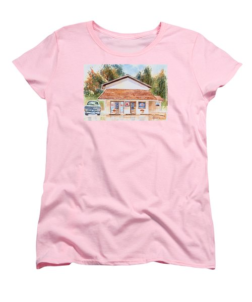 Women's T-Shirt (Standard Cut) featuring the painting Woodcock Insurance In Watercolor  W406 by Kip DeVore