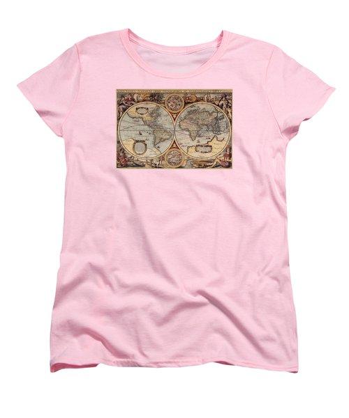 World Map 1636 Women's T-Shirt (Standard Cut) by Photo Researchers