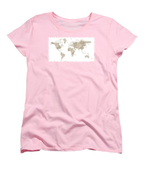 World Map Women's T-Shirt (Standard Cut) by Anton Kalinichev