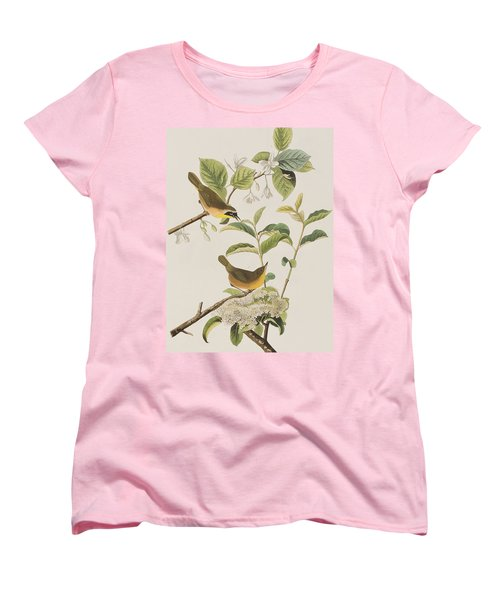 Yellow-breasted Warbler Women's T-Shirt (Standard Cut) by John James Audubon