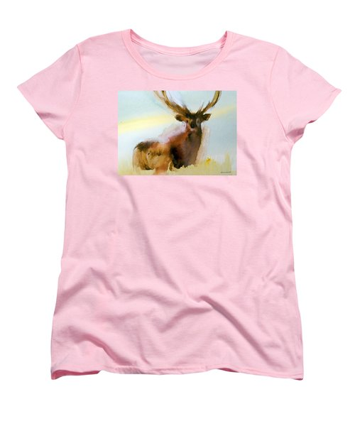 Yellowstone  Elk Women's T-Shirt (Standard Cut) by Ed Heaton