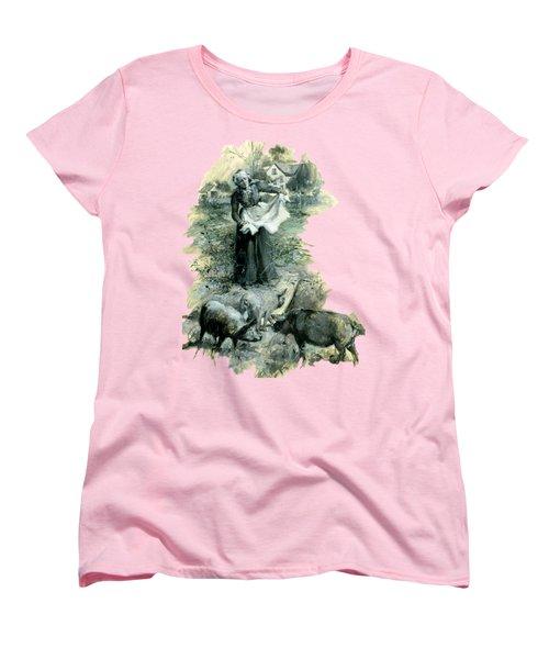 Women's T-Shirt (Standard Cut) featuring the photograph Yohn Pigs  by Robert G Kernodle
