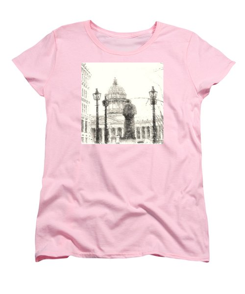 Women's T-Shirt (Standard Cut) featuring the drawing Yury Bashkin City Poem by Yury Bashkin