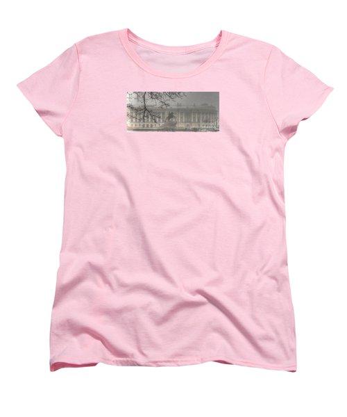 Women's T-Shirt (Standard Cut) featuring the pyrography Yury Bashkin The Fog Peterburg by Yury Bashkin