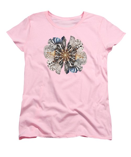 Zebra Flower Women's T-Shirt (Standard Cut) by Anastasiya Malakhova