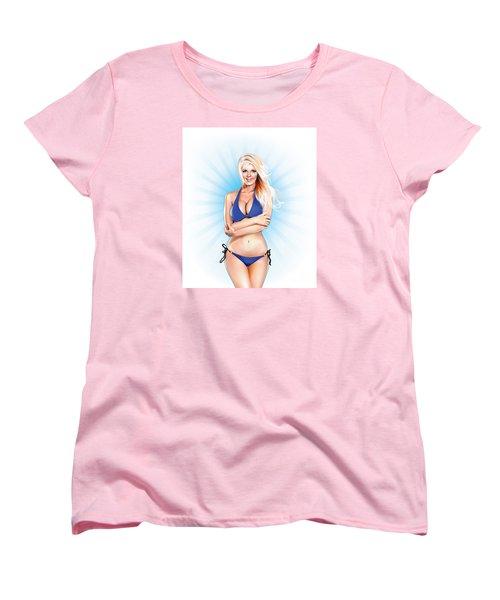 Zienna, Cheeky In Blue Women's T-Shirt (Standard Cut)
