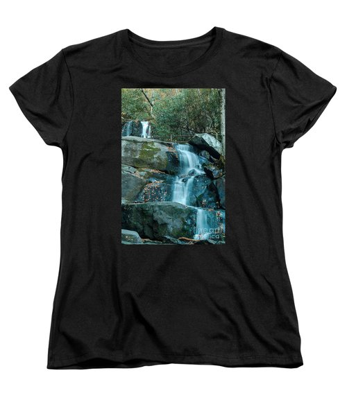 Women's T-Shirt (Standard Cut) featuring the photograph  Bottom Of Laurel Falls by Patrick Shupert