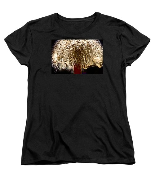 Women's T-Shirt (Standard Cut) featuring the photograph  Dandelion Dew In Bronze by Peggy Collins