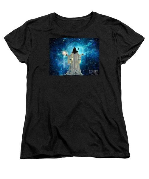 Heavens Door Women's T-Shirt (Standard Cut) by Dolores Develde