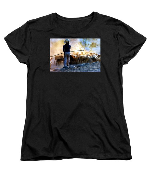 Herder Going Home In Mexico Women's T-Shirt (Standard Cut) by Phyllis Kaltenbach