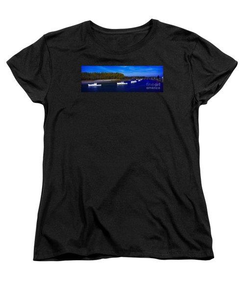 Women's T-Shirt (Standard Cut) featuring the photograph  Kennnepunkport Harbor  Maine  by Tom Jelen
