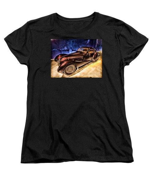 Women's T-Shirt (Standard Cut) featuring the photograph  Talbot Lago 1937 Car Automobile Hdr Vehicle  by Paul Fearn