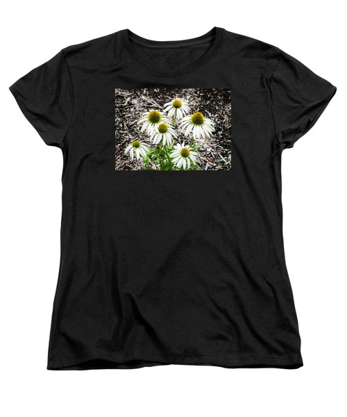 Women's T-Shirt (Standard Cut) featuring the photograph  White Echinacea by Paul Mashburn