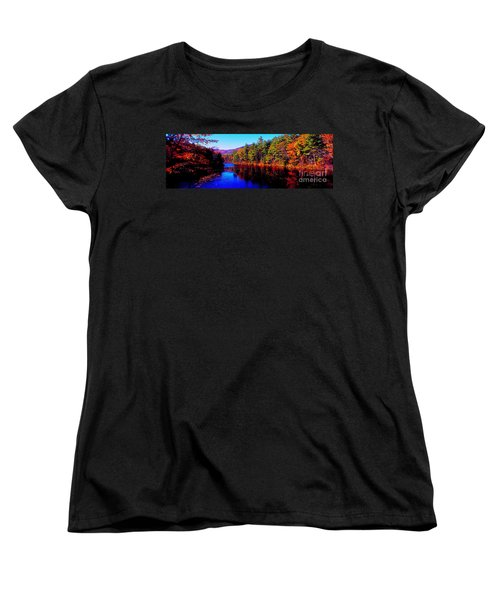 Women's T-Shirt (Standard Cut) featuring the photograph  White Mountians National Park Red Eagle Pond New Hampshire by Tom Jelen