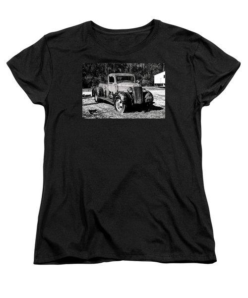 Women's T-Shirt (Standard Cut) featuring the photograph 1937 Chevy Wrecker by Paul Mashburn