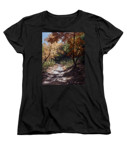 Autumn Trails Women's T-Shirt (Standard Cut)