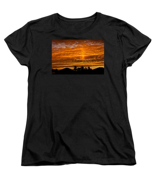 Women's T-Shirt (Standard Cut) featuring the photograph 1 Awsome Sunset by Brian Williamson