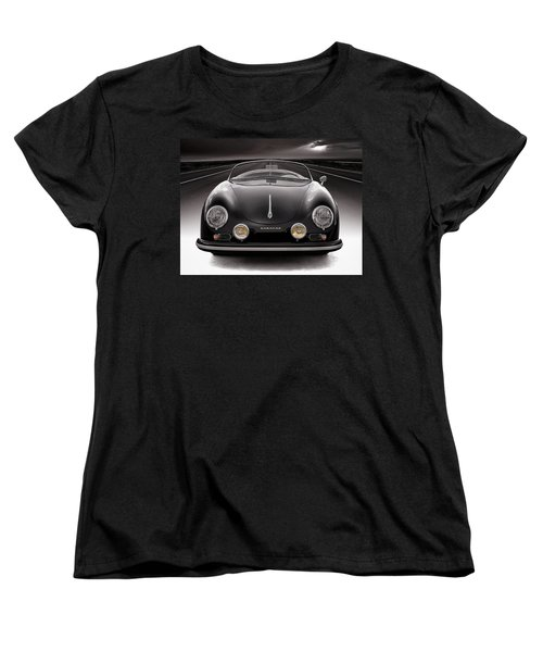 Black Speedster Women's T-Shirt (Standard Cut) by Douglas Pittman